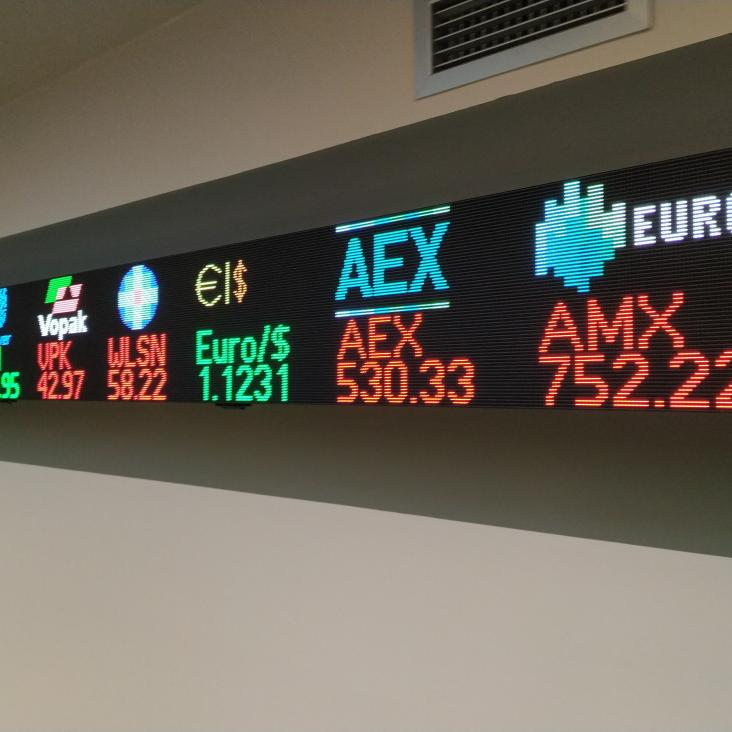 AEX Ticker