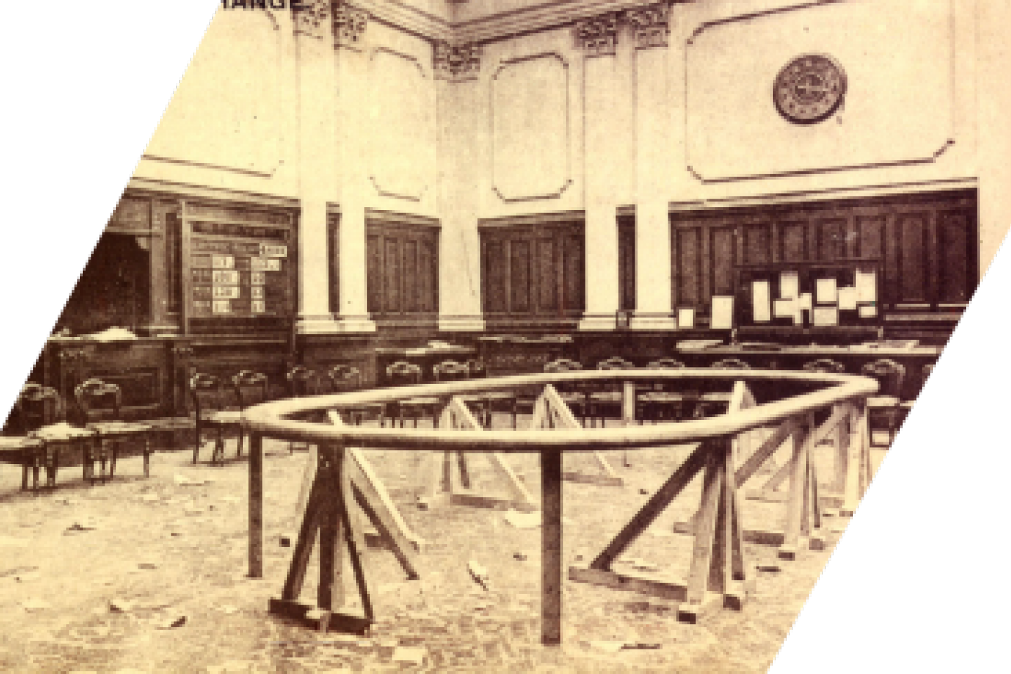 The Dublin Stock Exchange Trading Floor