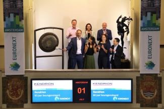 Kendrion 60th anniversary on the Amsterdam Stock Exchange